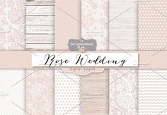 Check out Rose rustic wedding digital paper by burlapandlace on Creative Market Barn Parties, Recipe Scrapbook, Rosa Rose, Create A Family, Wedding Scrapbook, Flower Backgrounds, Graphic Patterns, Chevron Patterns, Art Design