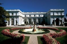 The front of Rosecliff. Built in 1902 by Stanford White for Nevada silver heiress Theresa Fair Oelrichs.