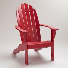 Formula One Red Classic Adirondack Chair   World Market