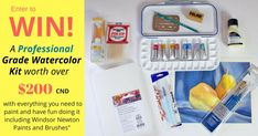 Enter to WIN a Professional Grade Watercolor Kit!