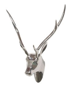 Look at this Three Hands Corporation Silver Metallic Deer Head on #zulily today!