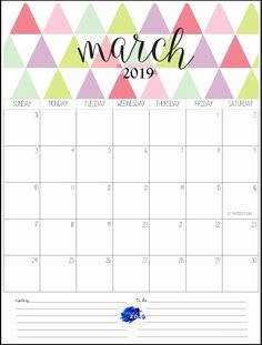 Calendar 2019 March March 2019 Calendar Pinterest Calendar