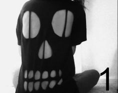 SALE Halloween Skull Cut Out T-Shirt Unisex Various Sizes and Colours by…