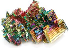 Bismuth crystal Bismuth: A native element this is a Man Made Hopper crystal.Hoppering is common in many minerals,