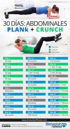 Reto ABS 30 días Abdomen plano con estos ejercicios. Acepta este reto de…
