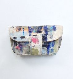 Painted Canvas Artsy Clutch Bag Handmade One of a by itzaChicThing, $65.00