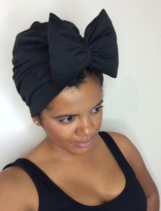 Black Bow Turban