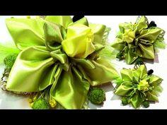 Цветок из ленты канзаши мастер класс / DIY ribbon flower tutorial Kanzashi Tatiana Vasyliuk - YouTube