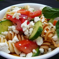 "Greek Pasta Salad I ""OH MY! This is so good! I made it for our company and they couldn't stop eating it. It was a big big hit!"""