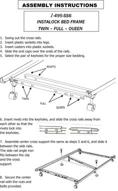 how to assemble the mantua i 495p bed frame httpwww