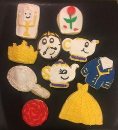 Beauty and the Beast cookies.