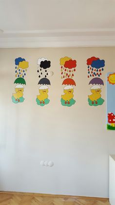 Civciv renk kavrami #anaokulu #susleme #duvarboyama ☆merveteyn