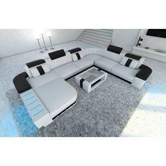 Unique Leder Wohnlandschaft Prato XXL mit LED Beleuchtung RGB Home Decor Pinterest Leather sofas Sectional sofa and Modern