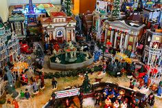 Christmas Village Fountain 3