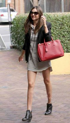 Miranda Kerr in Bassike | Available @Herman Store. #bassike #stripes #streetstyle #love #fashion #getthelook #hermanstore