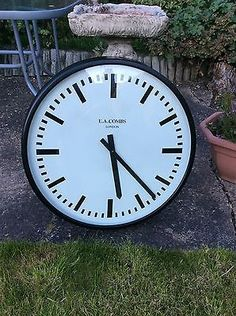 "LARGE  25 "" INDUSTRIAL/FACTORY  LOOKING CLOCK. VGC"