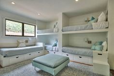 Ocean View Lookout Home with Lovely. - VRBO Clean, Beach themed Bunk Ocean View Lookout Home with Lovely. Bunk Bed Rooms, Bunk Beds Built In, Cool Bunk Beds, Bunk Beds With Stairs, Kids Bunk Beds, Home Bedroom, Bedroom Decor, Girls Bedroom, Bunk Bed Designs