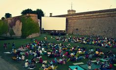Open-air Cinema in Barcelona