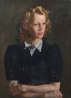 Portrait Of Pat Dainton, 1945 by Alfred Reginald Thomson (British 1894–1979)