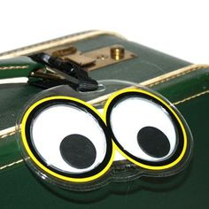 Googly Eyes Luggage Tag $6.00 The best!!!!!