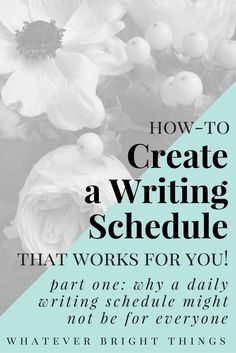 Have you ever wondered if a daily writing schedule is right for you? Follow along as I try to figure out a more flexible way to stay dedicated and disciplined about writing, without guilt.