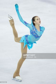 Alina Zagitova of Russia competes during the Junior Ladies Short Program on day one of the ISU Junior Grand Prix of Figure Skating on September 22, 2016 in Ljubljana, Slovenia.