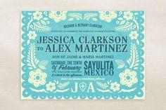 Mexican wedding invitation