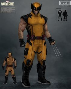 """Kunal Chopra on Instagram: """"Surprise! My newest Wolverine concept, this time based off of the classic yellow design from the old comics and animated series! I…"""""""