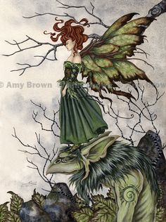 Fairy Art Artist Amy Brown: The Official Online Gallery. Fantasy Art, Faery Art, Dragons, and Magical Things Await. Gothic Fantasy Art, Fantasy Kunst, Beautiful Fantasy Art, Fantasy Dragon, Beautiful Fairies, Elves Fantasy, Amy Brown Fairies, Dark Fairies, Troll