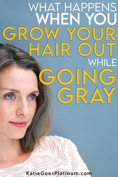 Why do some silver sisters prefer to keep their hair long while they transition to gray, how do they rock their gray grow-out, and what does it look like during the long transition period?  Read on to find out everything you want to know about going gray with long hair.  #goinggray #longhair #longgreyhair Growing Your Hair Out, Grow Out, Long Gray Hair, Grey Hair, Transition To Gray Hair, Going Gray, Silver Hair, Period, How To Find Out