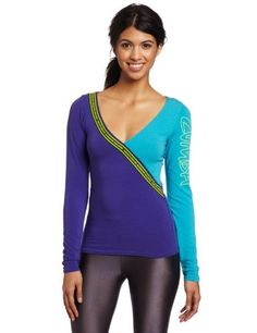 Zumba Fitness Women's Escape Long Sleeve Deep V Shirt (XX-Large, Acai) by Zumba Fitness. $28.00. This Long Sleeve Escape Deep V-Neck Top Is a a great layer piece to wear over any Zumba bra top or tank top.