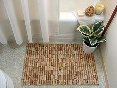 Creative with cork DIY Teppiche korken Fußmatten holz badezimmer                                                                                                                                                                                 Mehr