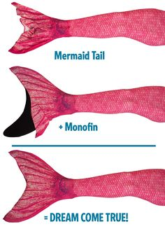 When you're looking for a hot pink mermaid tail, shop Fin Fun's Malibu Pink design from the Mermaidens collection! Pink Mermaid Tail, Mermaid Tails For Kids, Mermaid Fin, Realistic Mermaid, Mermaid Halloween Costumes, Pink Swim, How To Wear, Sirens, Tejidos