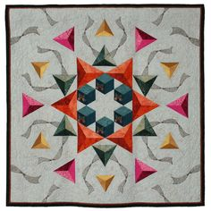 """Surrounded By Grace, 38""  x 37"", by Cathy Pilcher Sperry. 2014 Hoffman Challenge quilt - Pieced 1st Place"