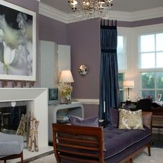 Traditional Home Deep Eggplant Purple Wall Paint Design, Pictures, Remodel, Decor and Ideas