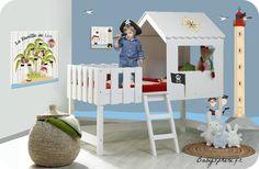 chambre lit pirate enfant bébé garçon cabane lit