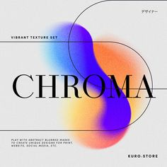 CHROMA retro gradients @creativemarket