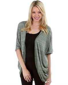 Gray Knit Cardigan (plus size) at My Fashion Wear! www.myfashionwear.com