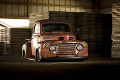 Ross bought this 1949 Ford from the swap meet at the NSRA Street Rod Nationals in Louisville, Kentucky. 1948 Ford Truck, Classic Ford Trucks, Pinstriping, Custom Trucks, Pickup Trucks, Hot Rods, Rats, F1, Vehicles
