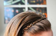 Hair Tutorial: The Stay-Put Braided Headband. No bobby pins! when my hair is a bit longer. My Hairstyle, Pretty Hairstyles, Braided Hairstyles, Headband Hairstyles, Good Hair Day, Great Hair, Amazing Hair, Braid Headband Tutorial, Braid Hairband