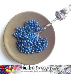 Blue plastic beads 11g . Fun Colorful beads. Great by HTCandyBeads, $1.70