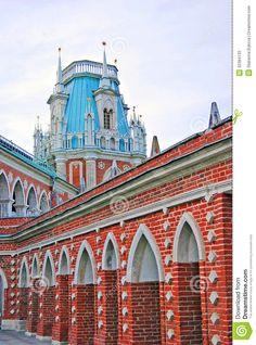 Tsaritsyno Palace, Moscow, Russia | Big palace in Tsaritsyno park, Moscow, Russia.