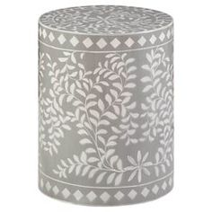 Mosaic Drum Table - Grey