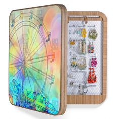 Lisa Argyropoulos The Dream Weaver BlingBox | DENY Designs Home Accessories #blingbox #ferriswheel #rainbow #art #cool #awesome #jewelry #box #cabinet #wall #decor #home #bedroom #trinkets #bling #DENYdesigns #DENYholiday #shopsmall