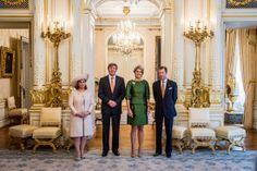 Reyes Guillermo Alejandro y Máxima de Holanda Y Grandes Duques Enrique y Maria Teresa de Luxemburgo