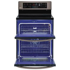#LGLimitlessDesign  #ContestShop LG Appliances LG 30-in Smooth Surface 4-Element 4.38-cu ft / 2.32-cu ft Double Oven Single-Fan European Element Electric Range (Black Stainless Steel) at Lowe's Canada. Find our selection of ranges at the lowest price guaranteed with price match + 10% off.