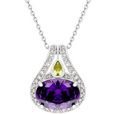 Purple Brilliance Amethyst Pendant | GolverJewelry