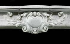 Antique Carrara Marble Rococo French Fireplace Mantel