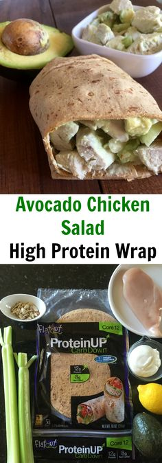 Avocado Chicken Salad High Protein Wrap