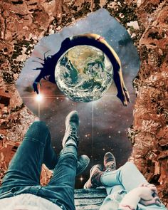 Available to purchase on society6 #collage #space #motherearth #surrealism